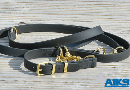 A1K9 Leather Dog Training Leads